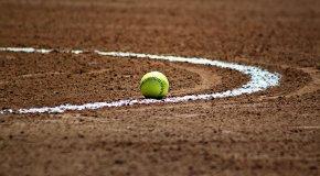 softball on field