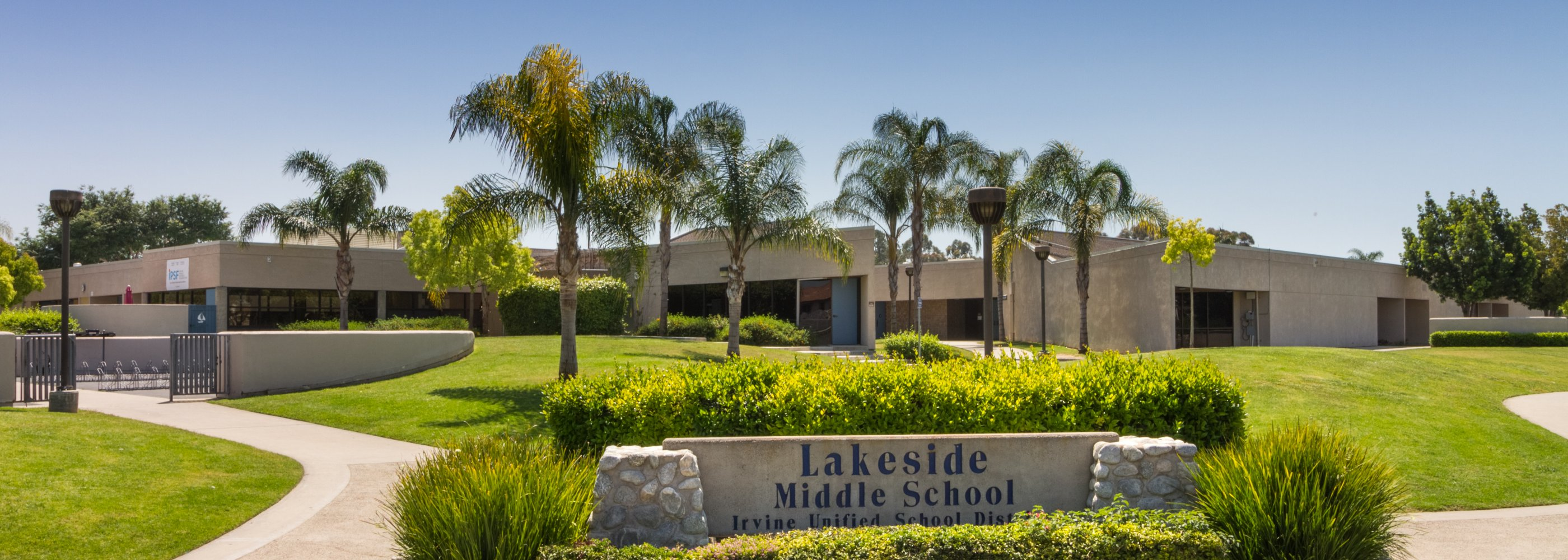 front of lakeside middle school