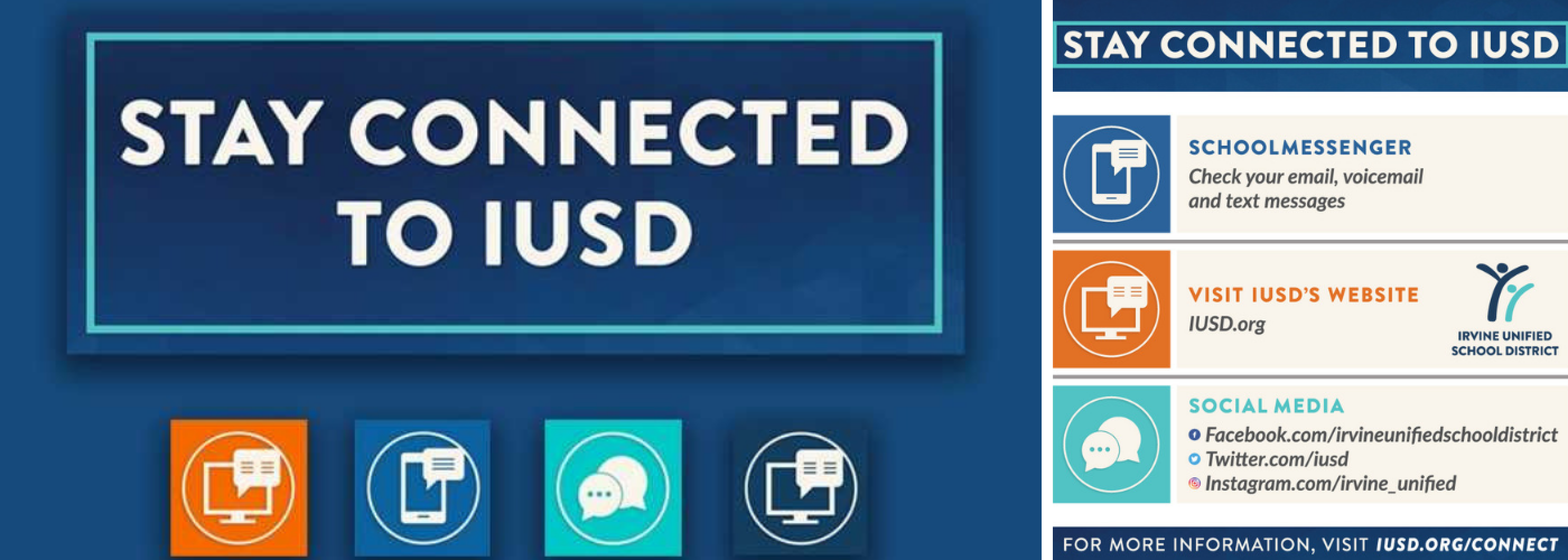 Stay Connected to IUSD Banner