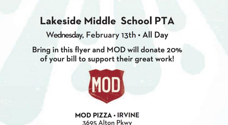 MOD Pizza Flyer