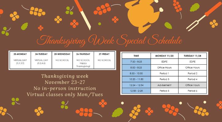 special schedule